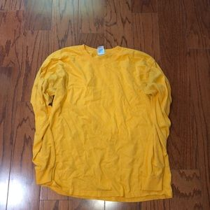 Other - Men's solid yellow long sleeve tee